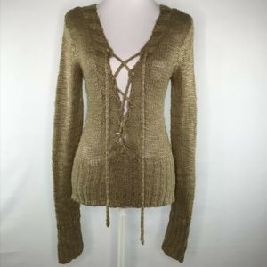 Daytrip Womens Cardigan Knitted Tie Front Size M